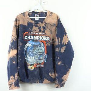 90s Mens Large Denver Broncos Acid Wash Sweatshirt